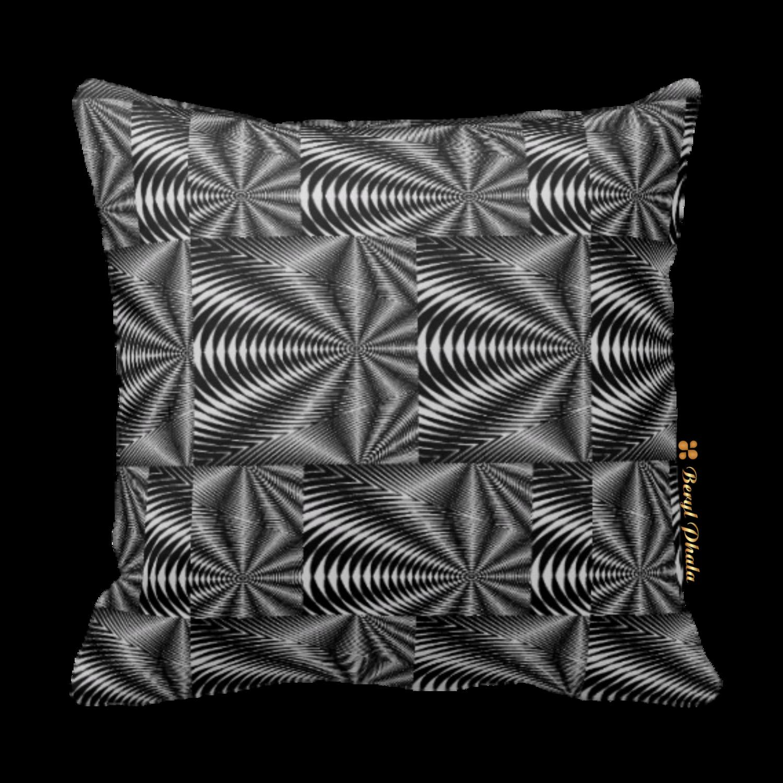 Cushion Black and White Zebra Print Design