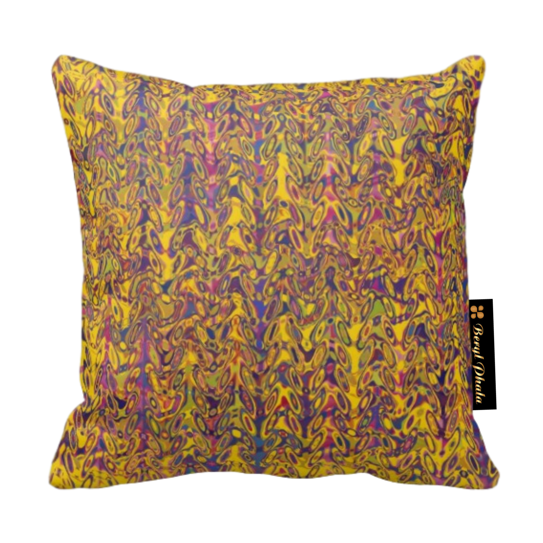 Cushion Yellow & Brown Gradient Print Design