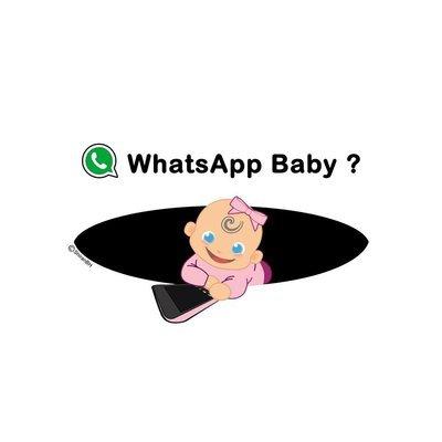 חולצת הריון של בת - WhatsApp Baby?