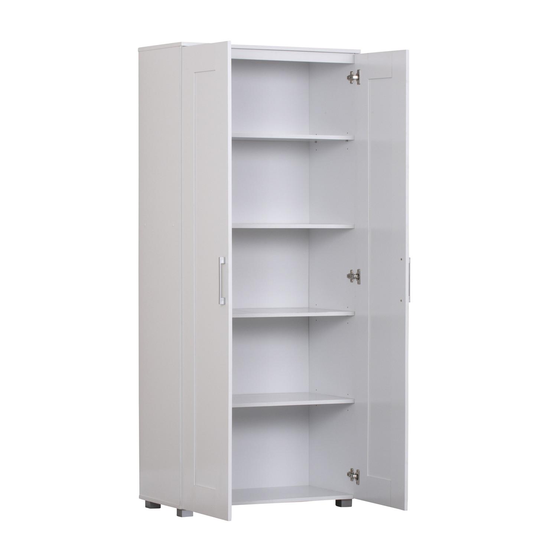 Kitchen Bathroom Laundry Pantry Linen Storage Cupboard 2 Door White