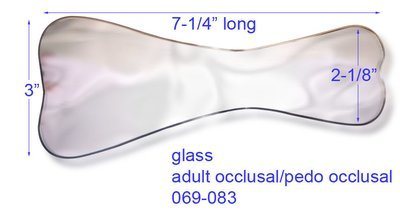 Photography Mirror, Rhodium Plated Glass, adult occlusal/pedo occlusal