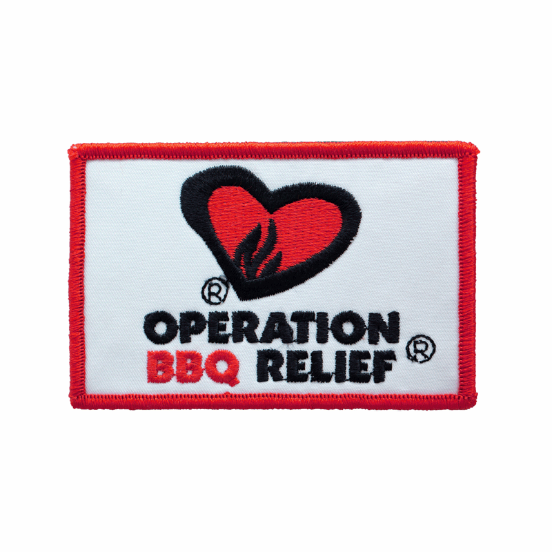 Operation BBQ Relief Patch - White 60056