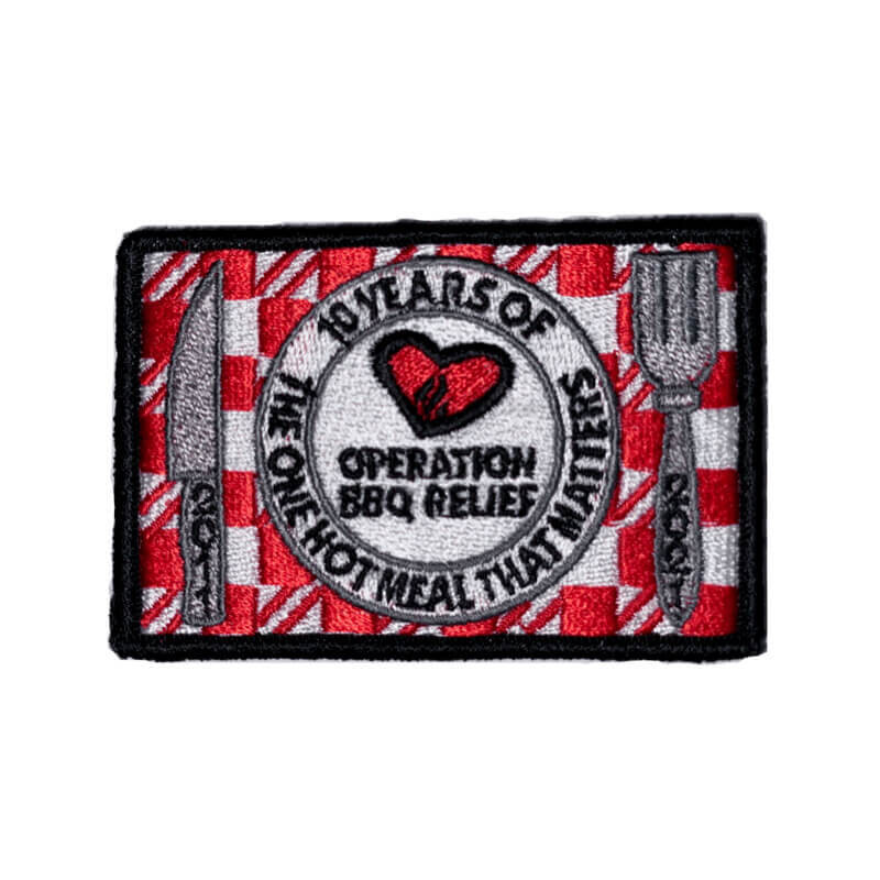 Operation BBQ Relief 10 Year Anniversary Patch