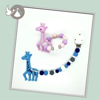 Anneau ou attache-lolette de dentition : Girafe