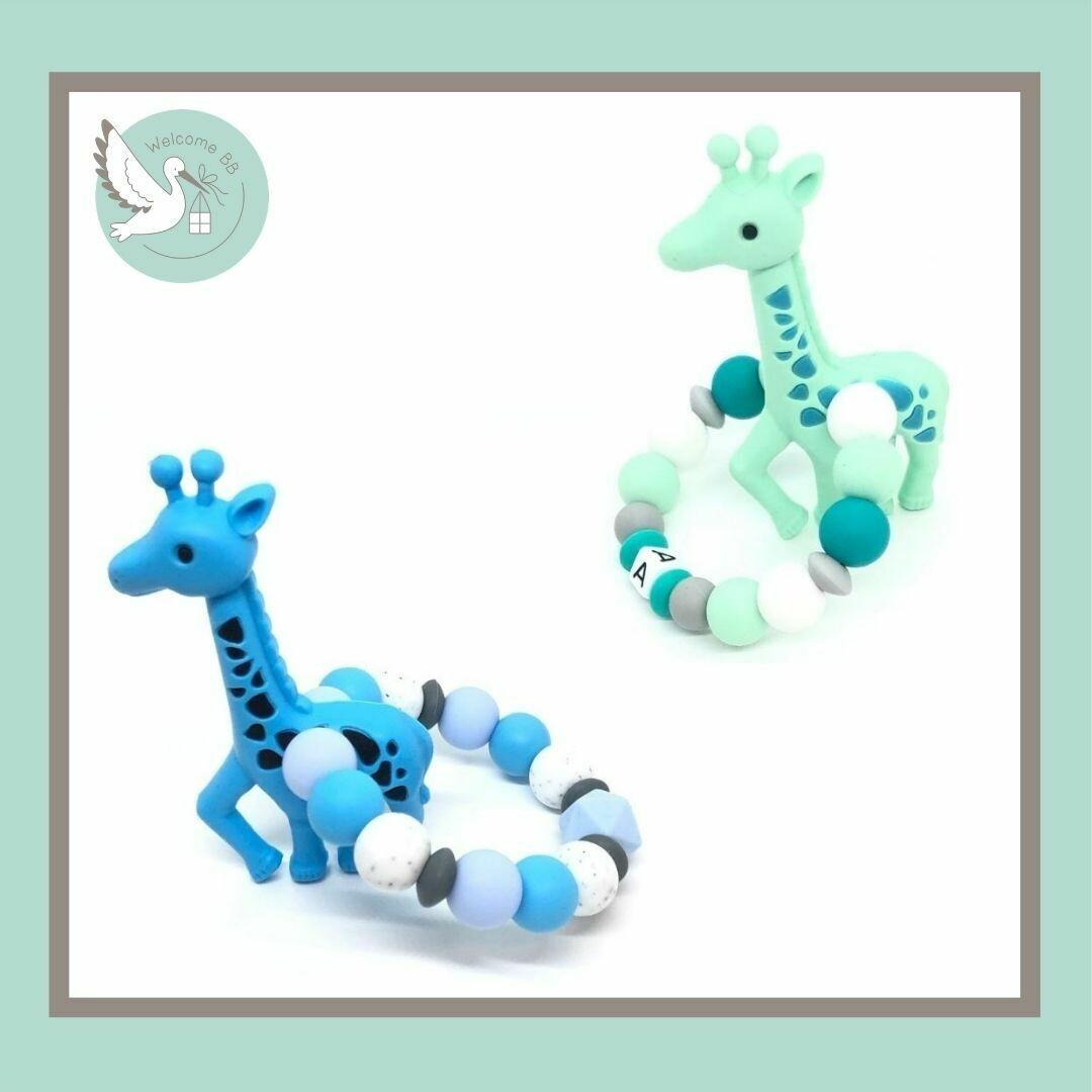 Anneau de dentition : Girafe bleue