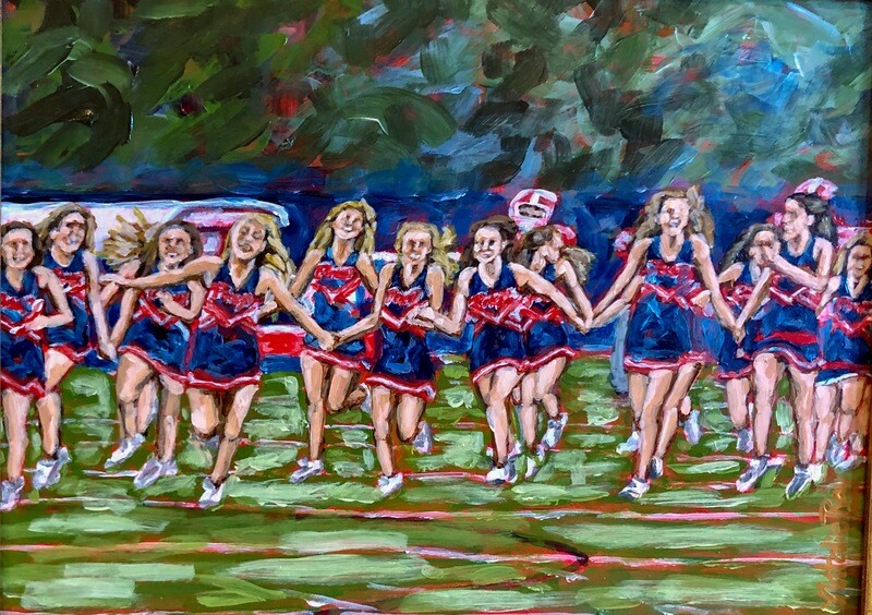 8x10 Prep Cheerleader Print By Natalie Ray