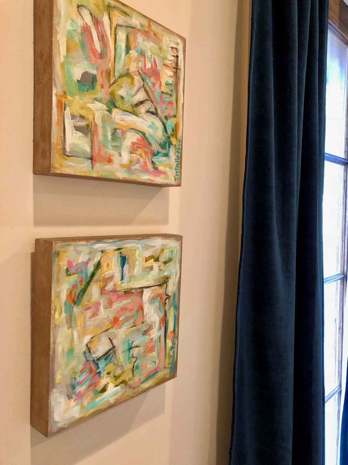 12x12 Abstract I & II (Pair)