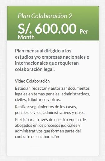 Plan Acuerdo de Colaboración Legal