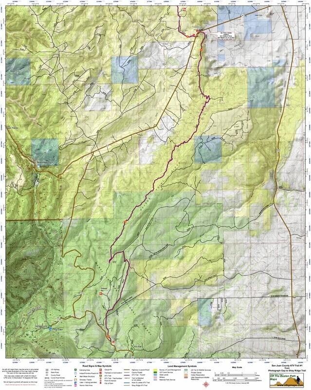 ATV Trail #1 Photograph Gap to Abajo Mountains