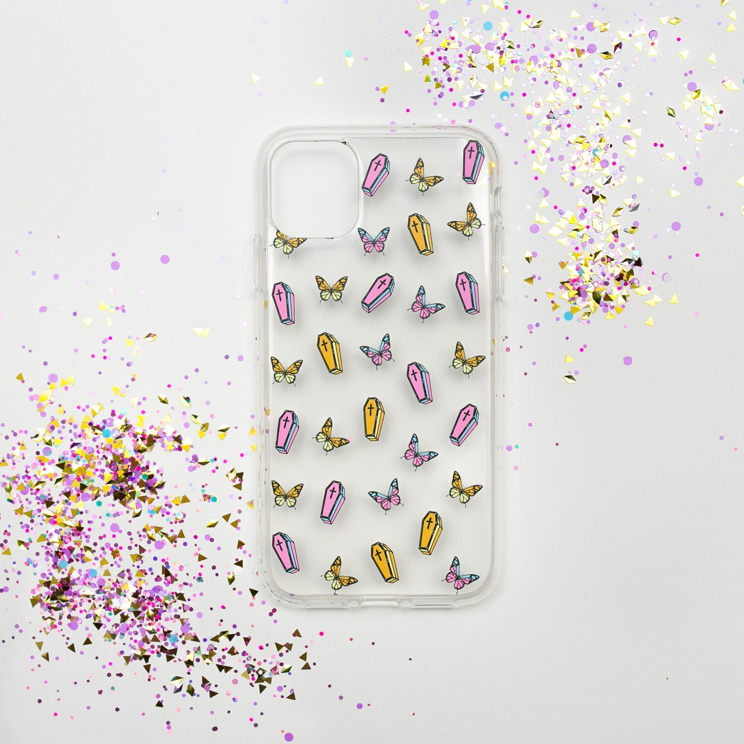 """Чехол для iPhone """"Coffin and Butterfly"""""""