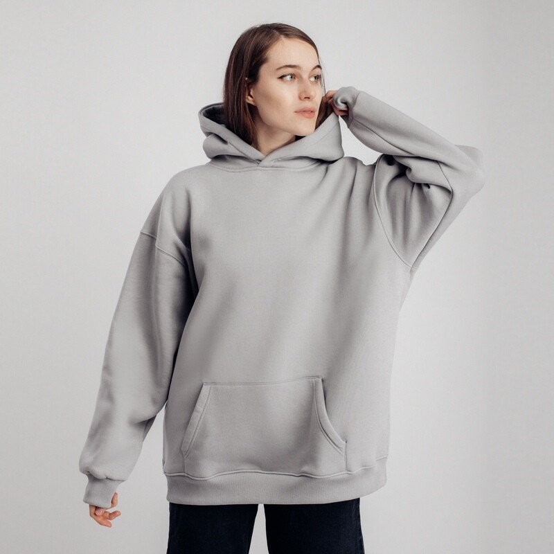 "Худи ""fam basic"" light grey"