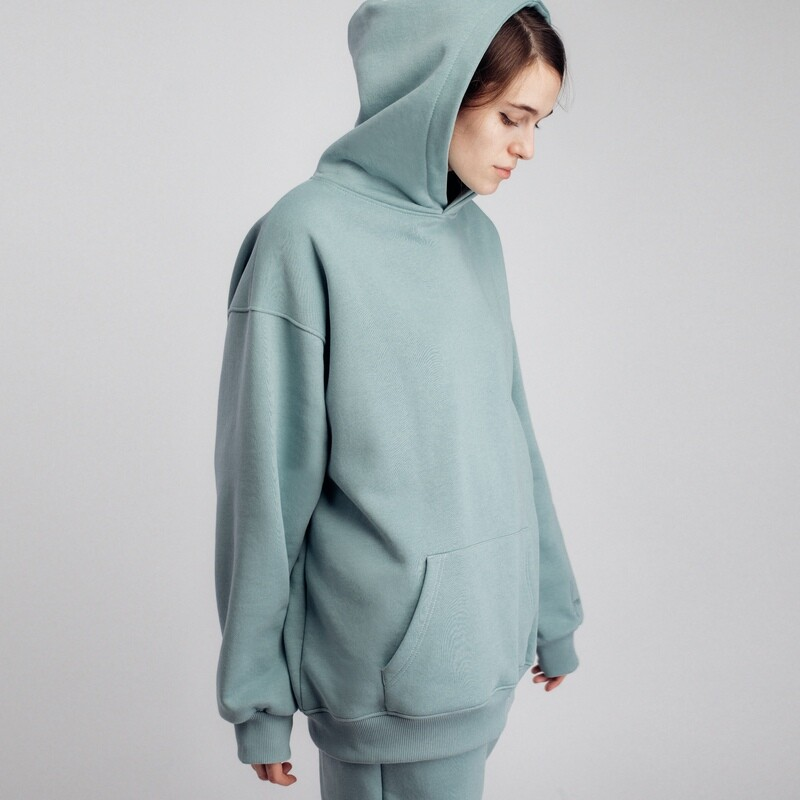 "Худи ""fam basic"" snow mint"