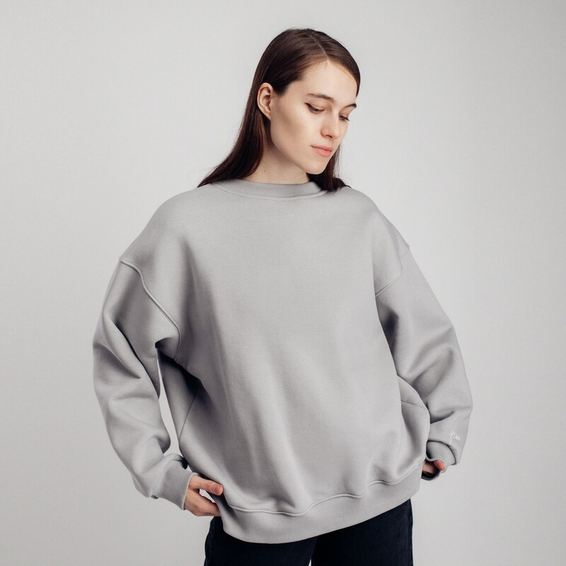 "Свитшот ""fam basic"" light grey"