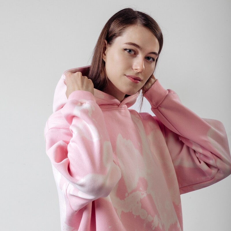 """Худи """"fam basic"""" pink tie dye"""