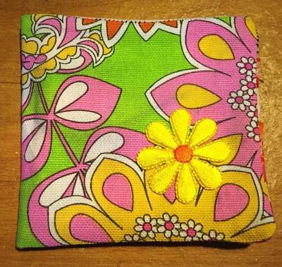 Flower Power grooovy baby wallet