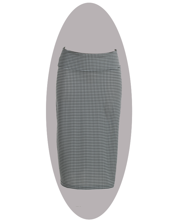 Beach skirt, to combine with your bathing suit or bikini. Long, pied de poule print.