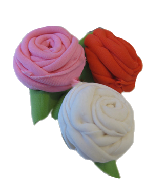large rose-pins, 3 pieces