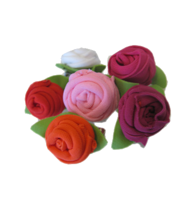 rose pins, small, 6 pieces