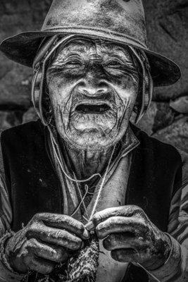 Homme qui tricote - Pérou 2016