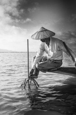 Pêcheur à la nasse  - Myanmar 2017