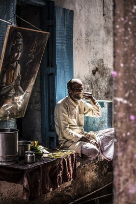 Un thé en ville - Vrindavan - Inde 2018