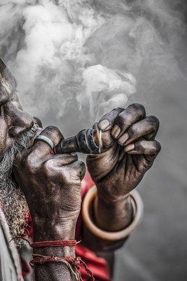 Enfumé - Vrindavan - Inde 2018