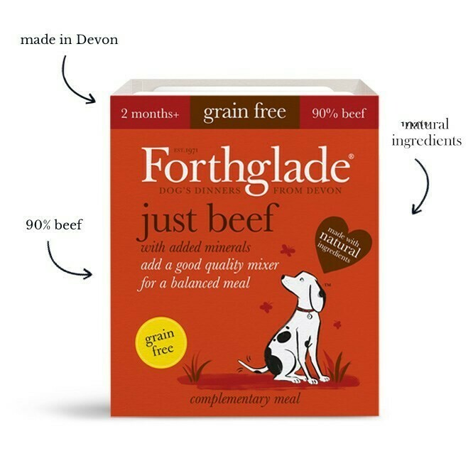Forthglade Puppy just beef natural grain free