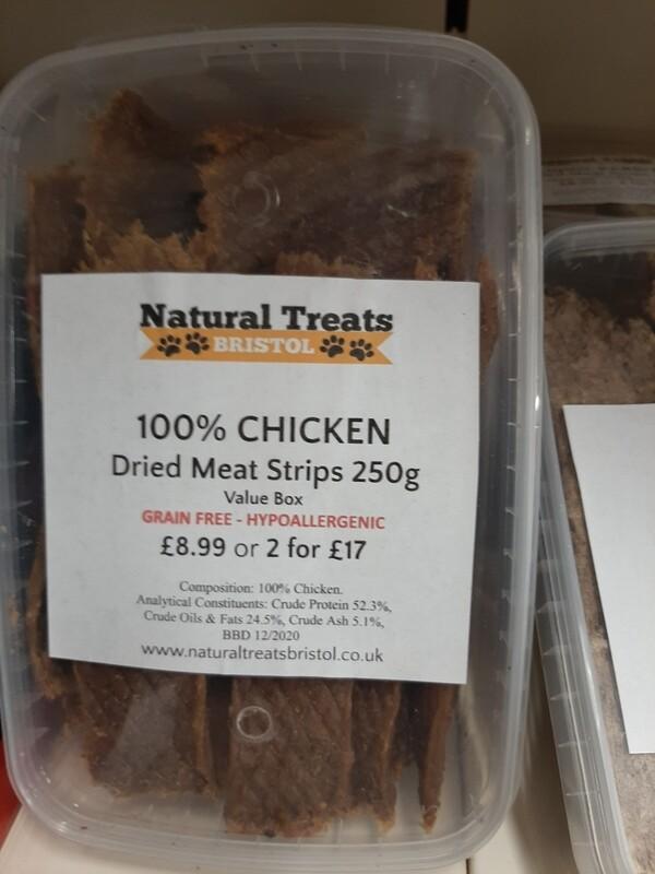 100% Dried Chicken Meat Strips 200g
