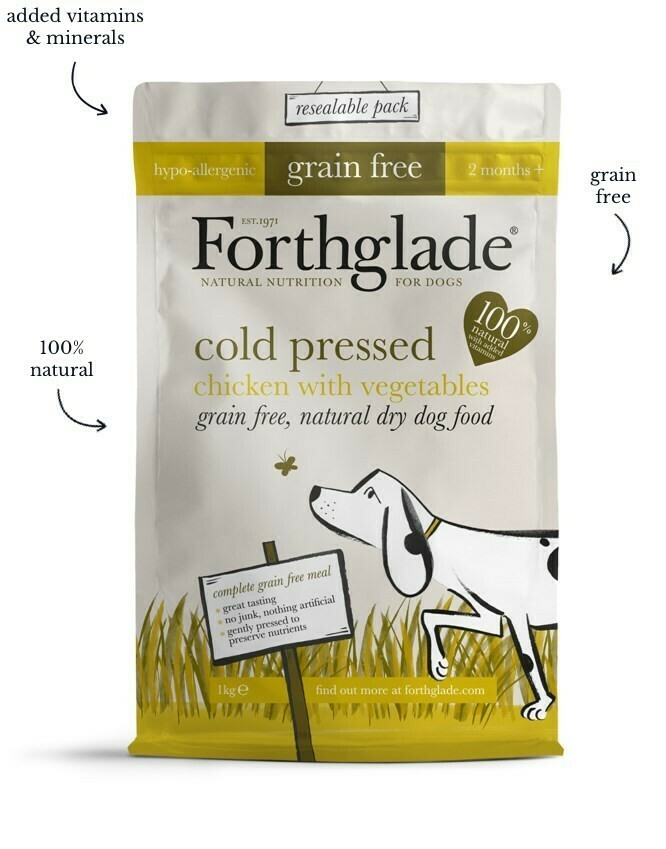 Forthglade chicken grain free cold pressed 2.5kg