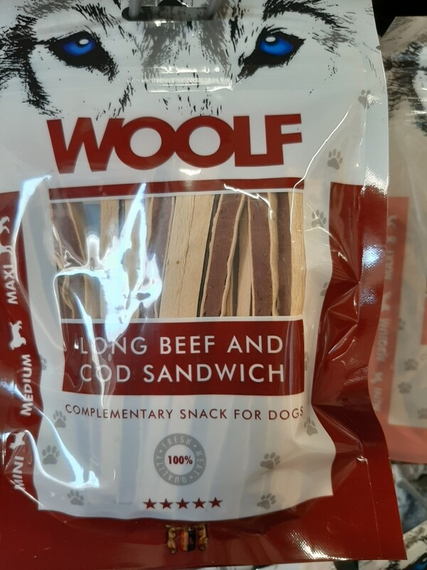 WOOLF Long Beef and Cod Sandwich