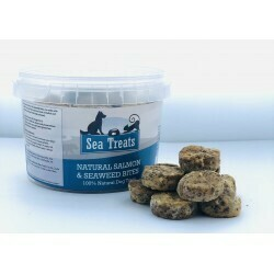 NATURAL SALMON & SEAWEED BITES 200G TUB