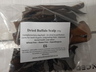 Dried Buffalo Scalp 250g