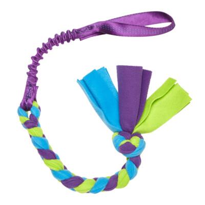 Bungee Handled Fleece Tug - Purple Handle