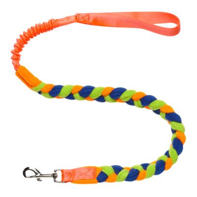 Bungee Fleece Tuggy Lead - Orange Handle