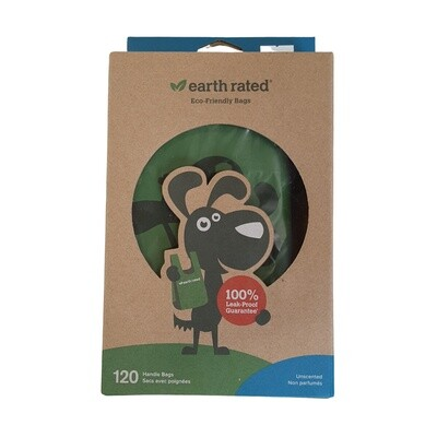 Earth-rated 120 Poop Bags - Handles