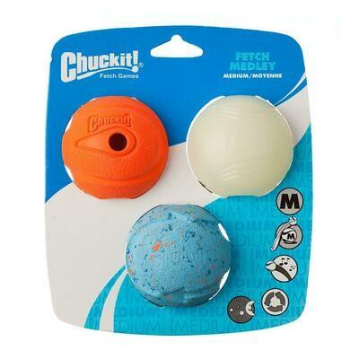 Chuckit Fetch Medley 3 pk Medium