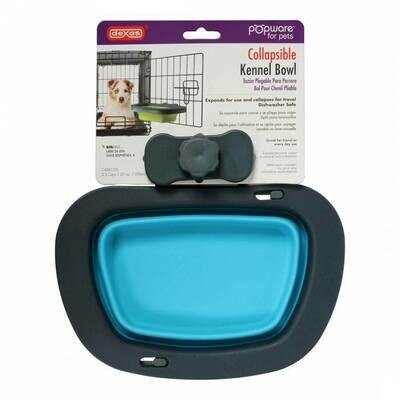 Collapsible Kennel Bowl Blue Lg 2.5 Cup/20oz
