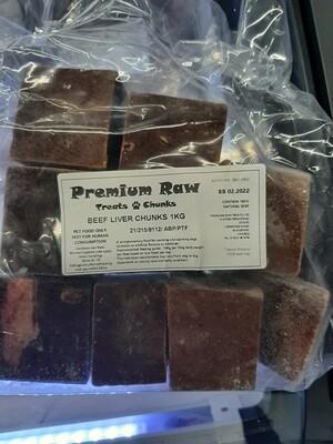 Beef Liver Chunks 1kg