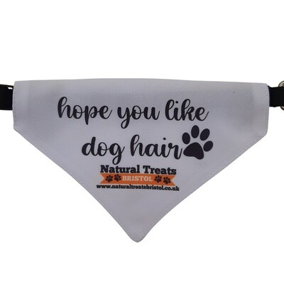 """Hope you like dog hair"" bandana S"