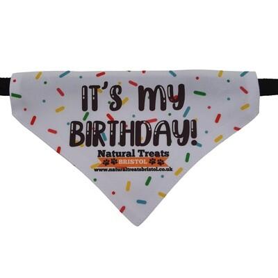 """It's my birthday"" bandana M"