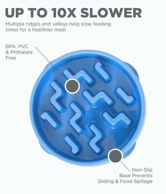 Slo Bowl Mini- Fun Feeder Blue
