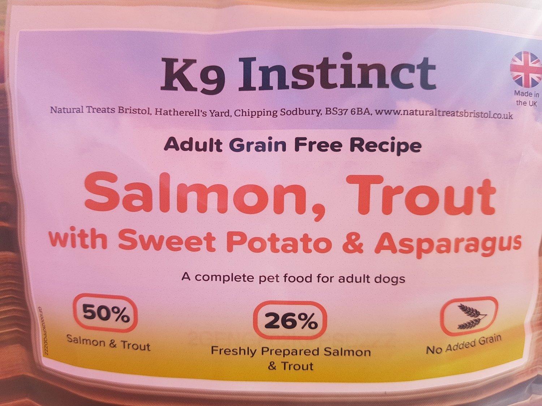 Salmon, Trout, Sweet Potato & Asparagus, Grain Free 15kg