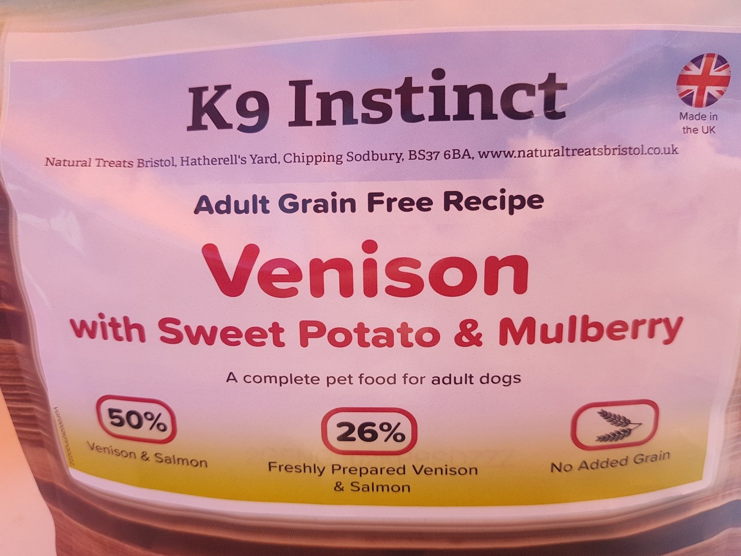 Venison Sweet Potato & Mulberry, Grain Free 2kg