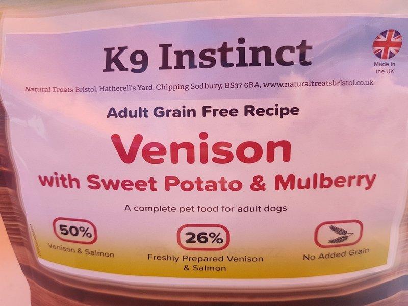 Venison Sweet Potato & Mulberry, Grain Free 2kg