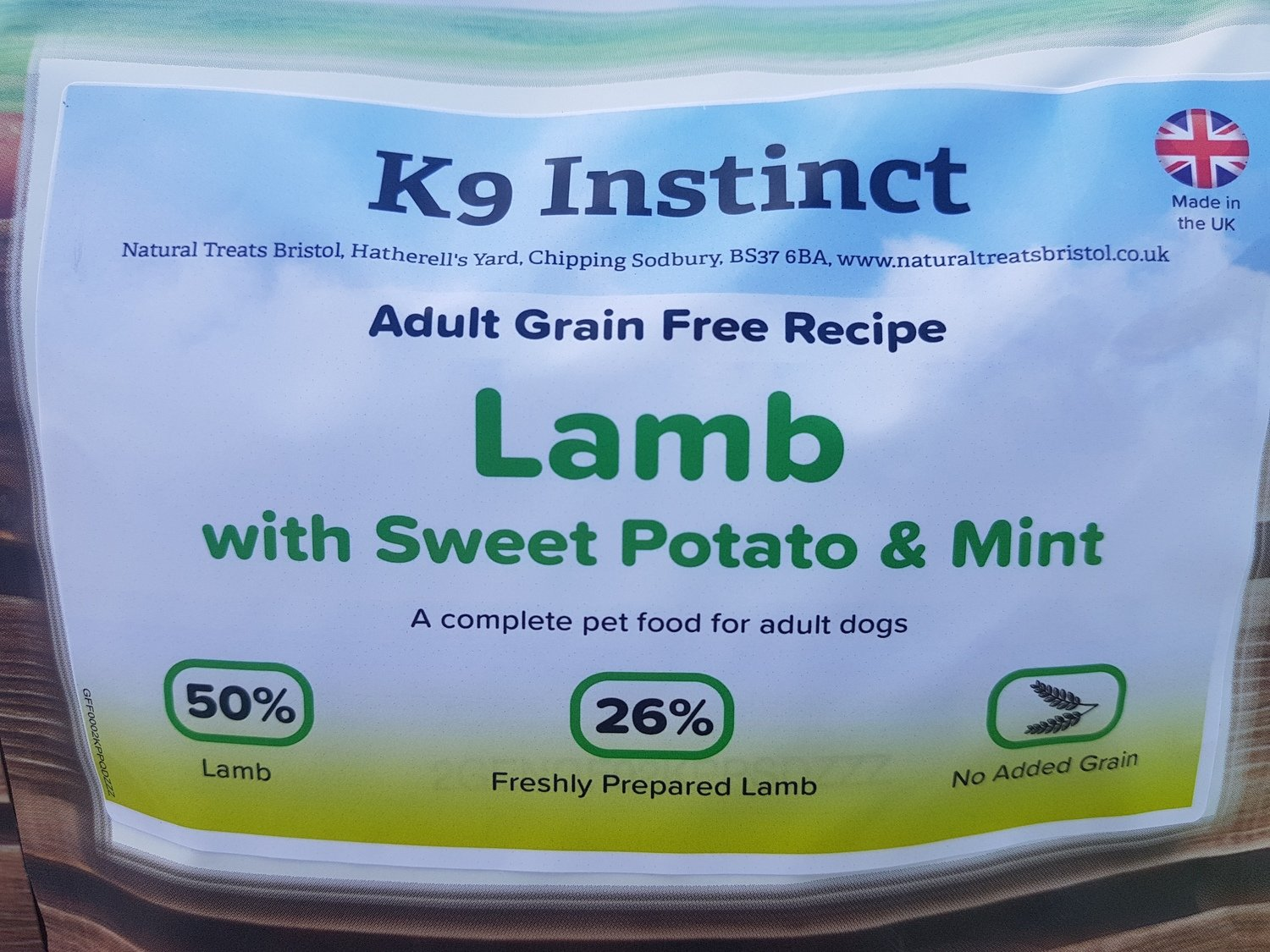 Lamb, Sweet Potato & Mint, Grain Free 2kg