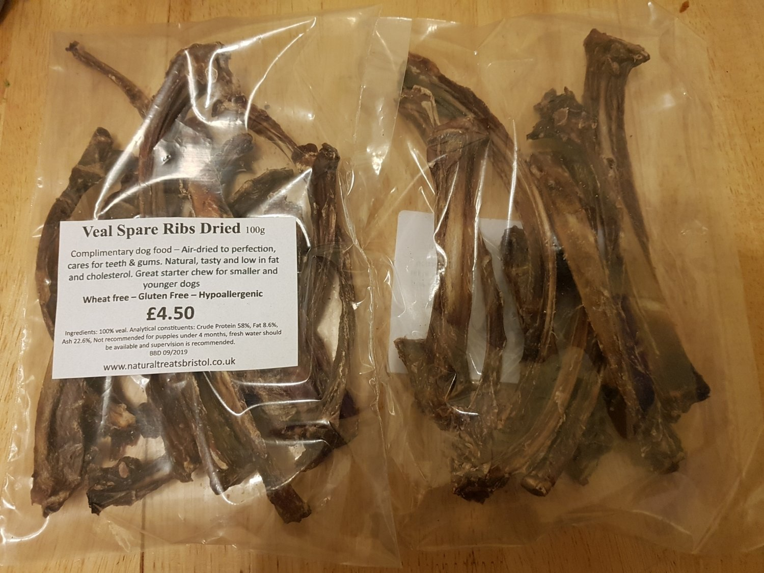 Veal Spare Ribs Dried 100g