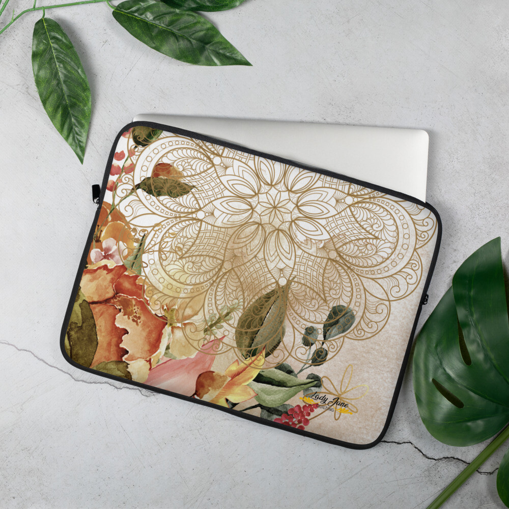 Laptop Sleeve - Mary Beth October Florals