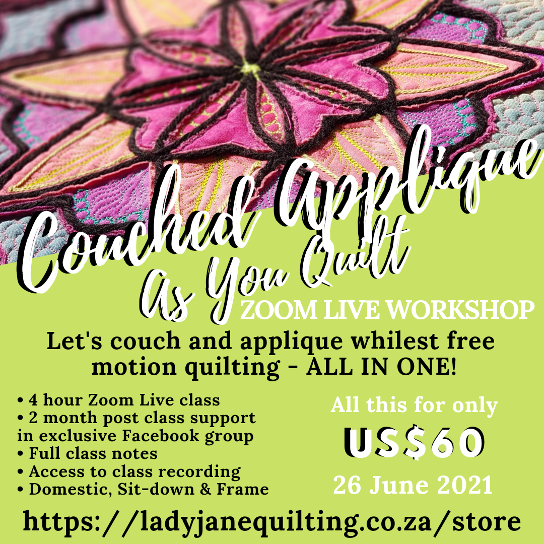 Couched Applique As You Quilt