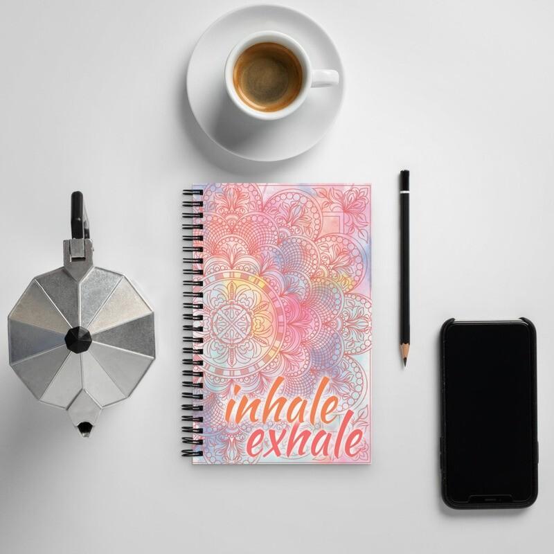 Spiral notebook - INHALE EXHALE