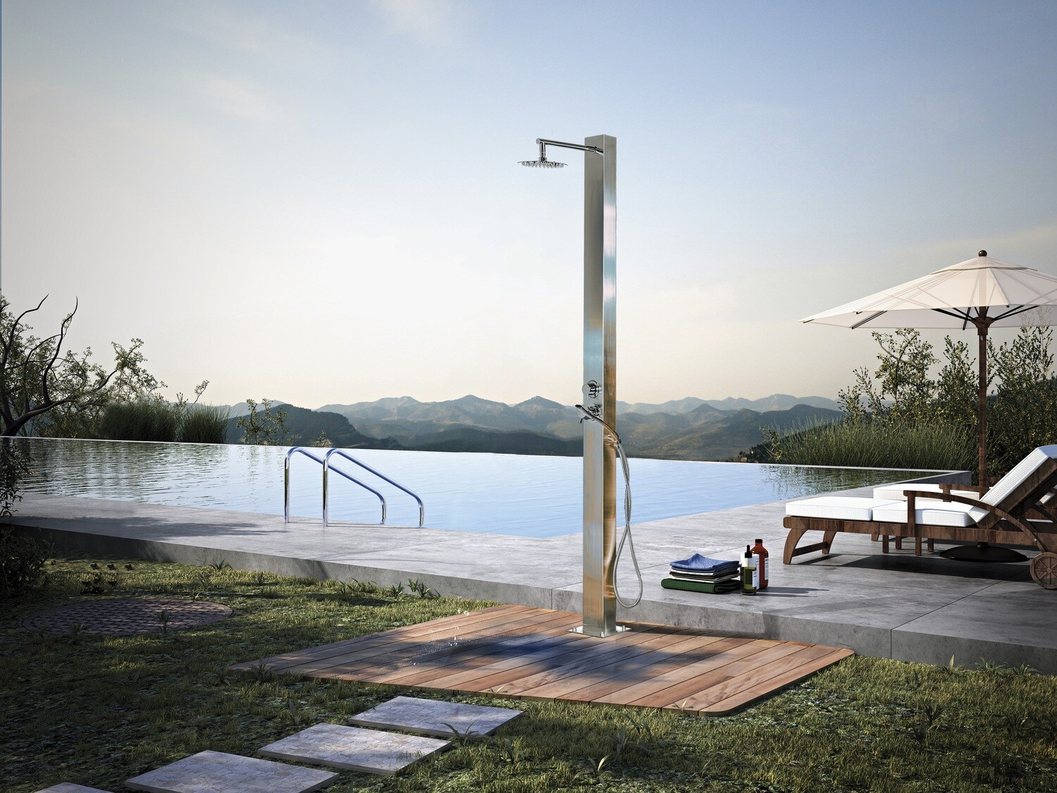MIAMI clean styling and great range of outdoor shower features